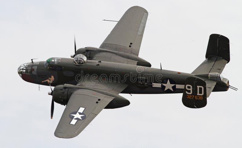 Bombardero de la Segunda Guerra Mundial B-25 Mitchell fotografía de archivo libre de regalías