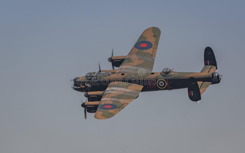 Bombardero de la Segunda Guerra Mundial del vintage de Avro Lancaster foto de archivo