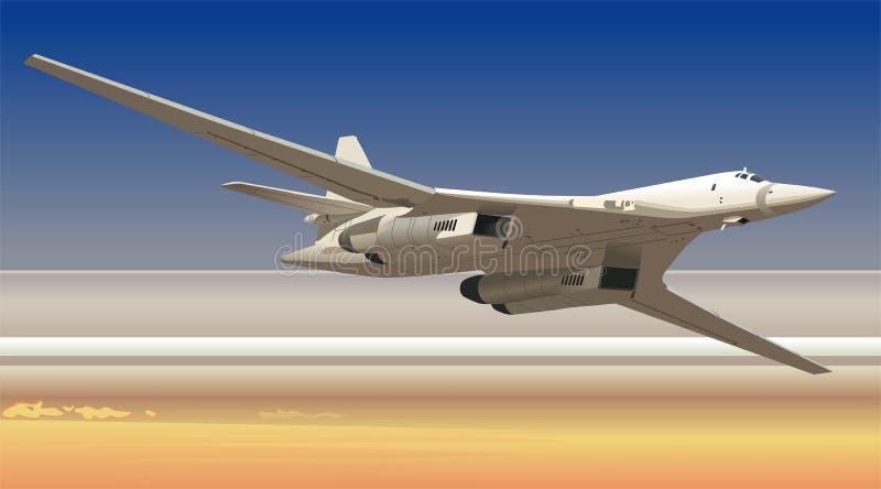 Bombardero estratégico del vector ilustración del vector