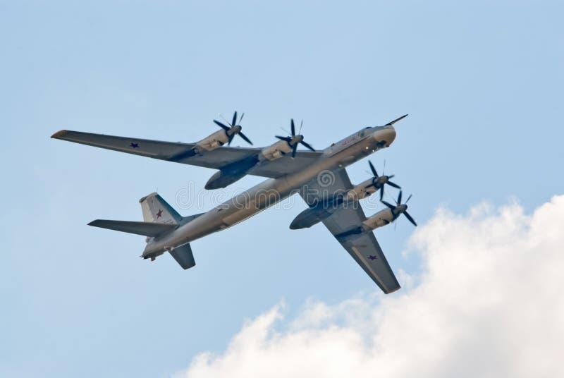 Bombardero estratégico Tu-95 imagen de archivo
