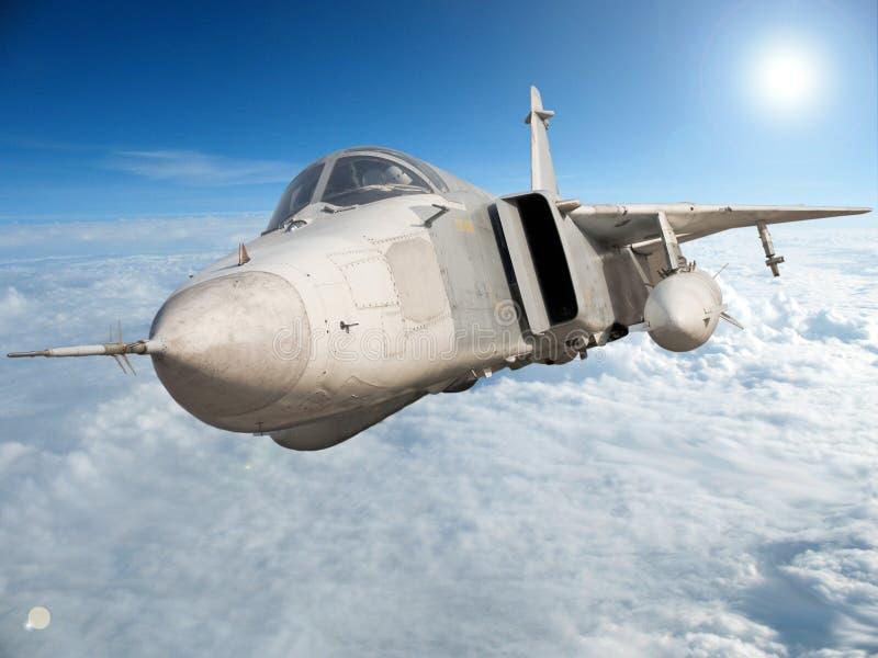 Bombardier à réaction militaire Su-24 photos libres de droits