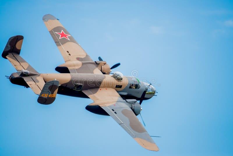 Bombardier de l'U.S. Air Force de WWII image stock