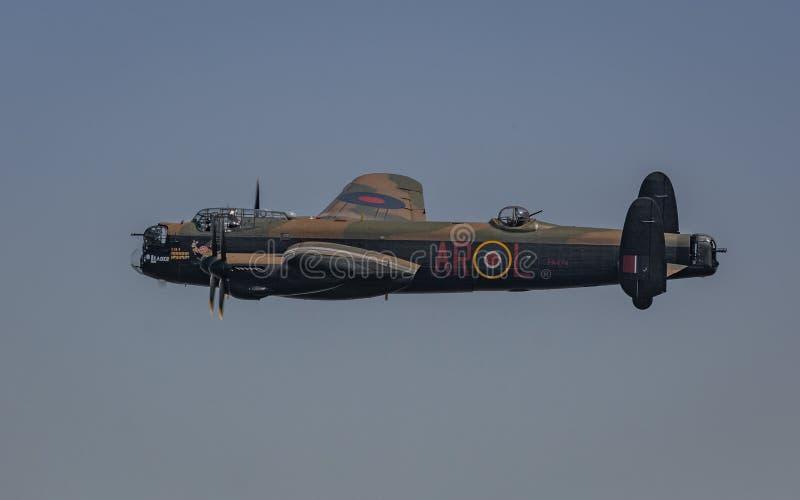 Bombardier de la deuxième guerre mondiale de cru d'Avro Lancaster photo stock