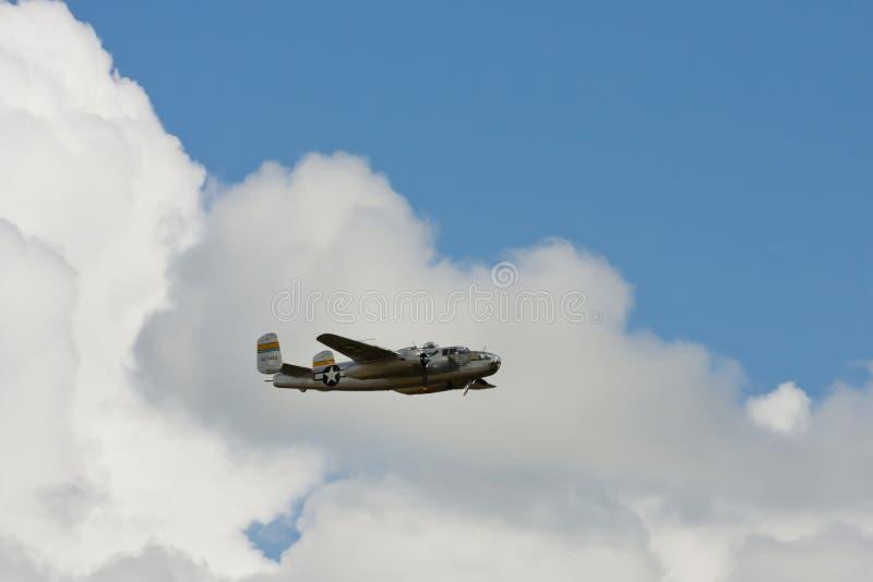 Bombardier nord-américain de B-25 Mitchell image libre de droits