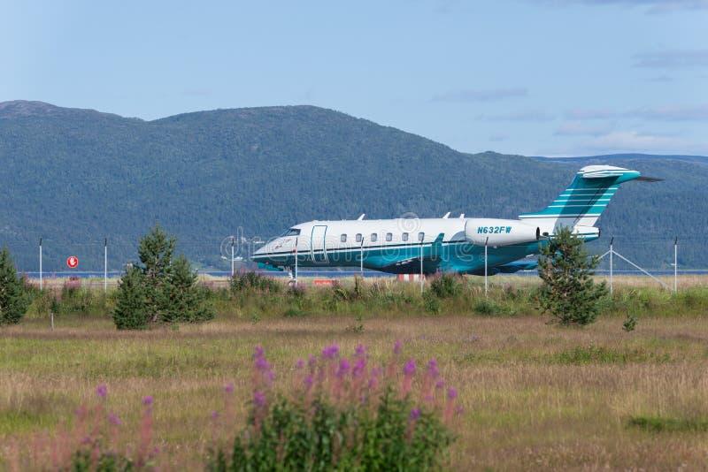 Bombardier privé jet royalty-vrije stock foto