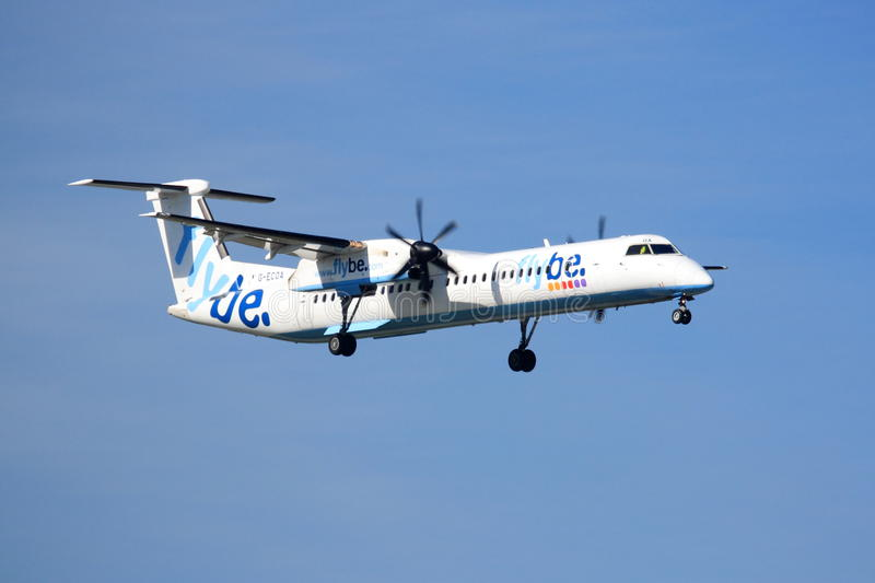 Bombardier Q400 de Flybe photos stock