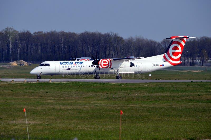 Bombardier Q400 NextGen royalty-vrije stock foto's