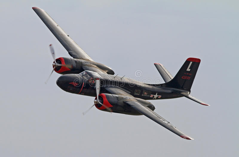 Bombardiers d'envahisseur de la deuxième guerre mondiale A-26 photo stock