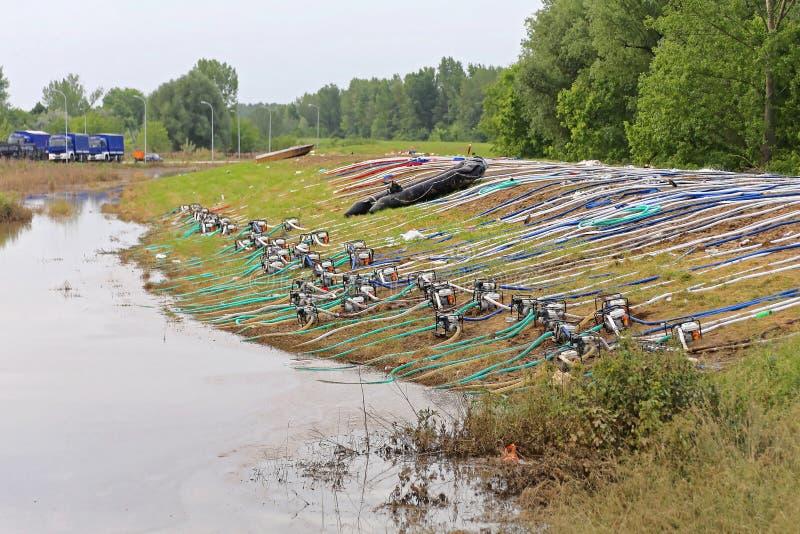 Bombas da inundação imagens de stock