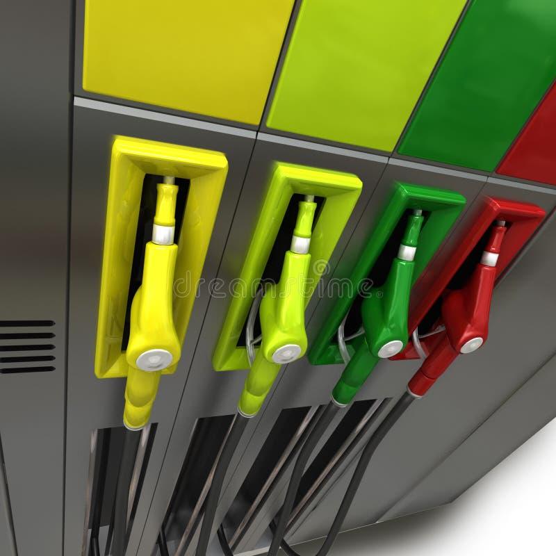 Bombas de gás nas cores ilustração do vetor