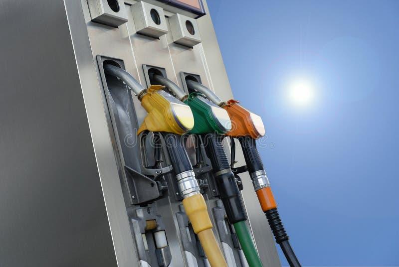 Bombas de gasolina imagens de stock