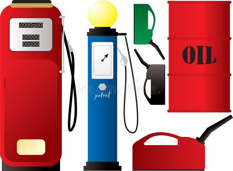 Bombas de gasolina ilustração do vetor