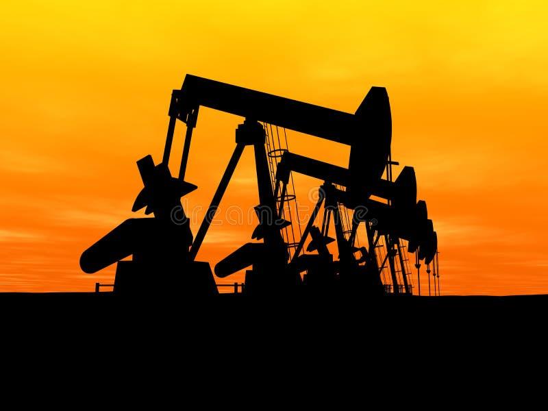 Bombas de petróleo ilustração royalty free