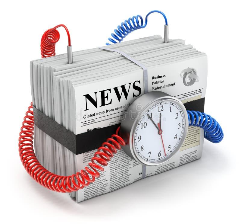 Bombastische Nachrichten lizenzfreie abbildung