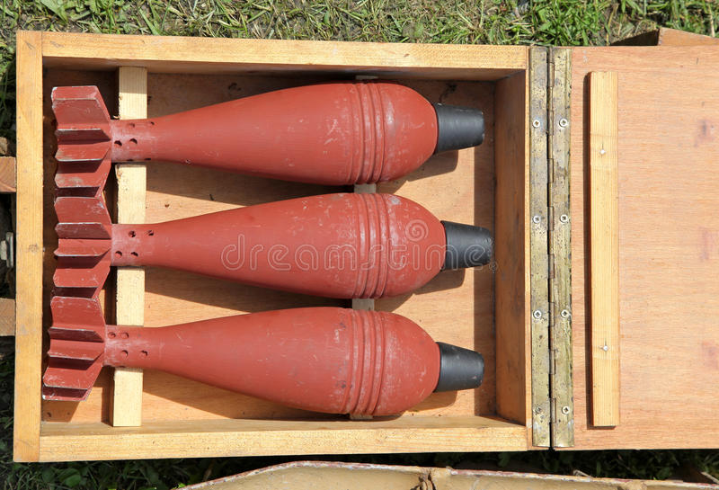 Bombe dalla seconda guerra mondiale fotografia stock