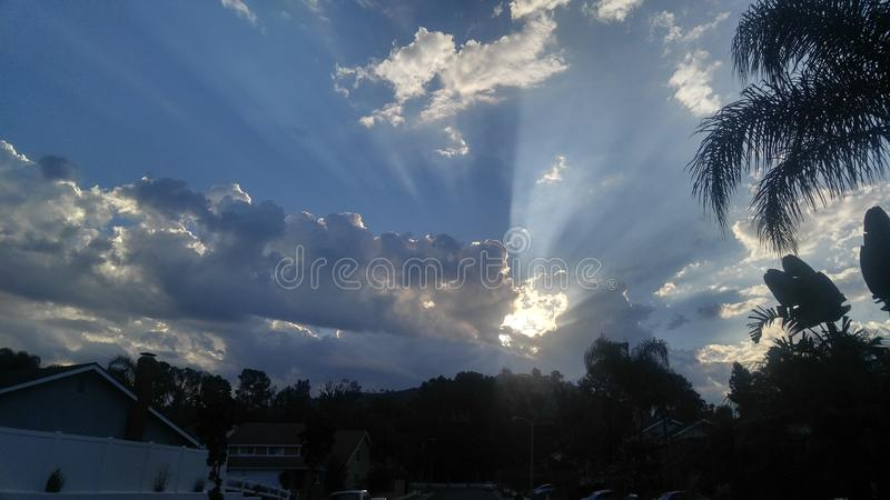bombe de ciel bonjour photos libres de droits