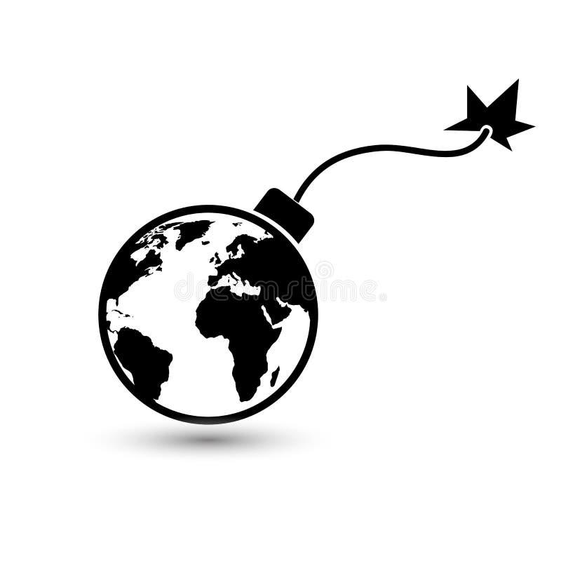Bombe de la terre illustration stock