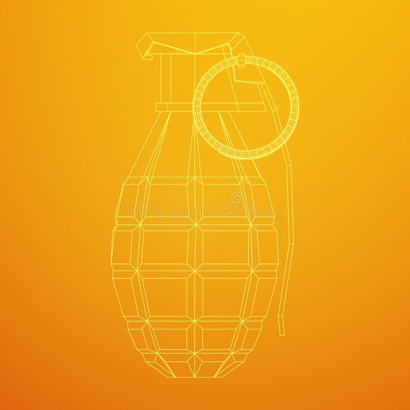 Bombe de main de vecteur illustration libre de droits