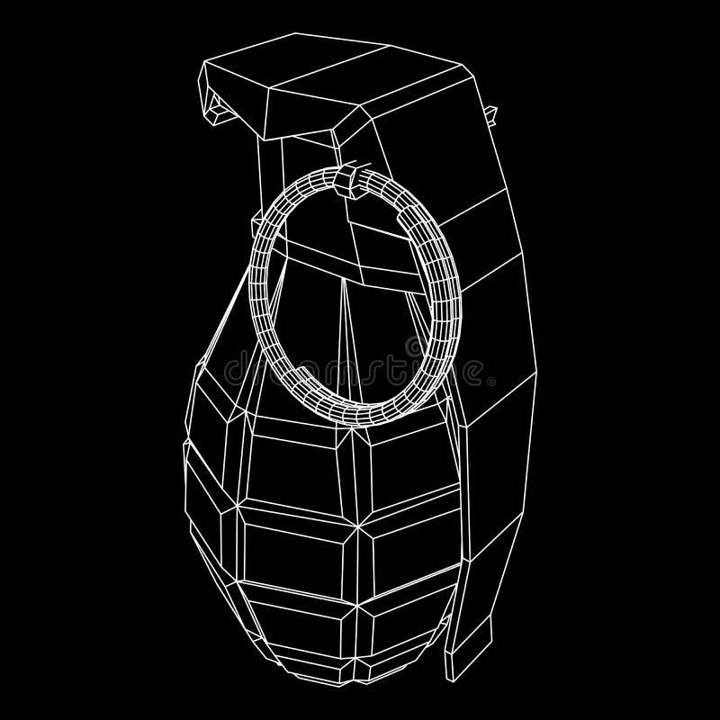 Bombe de main de vecteur illustration de vecteur