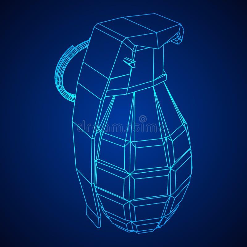 Bombe de main de vecteur illustration stock