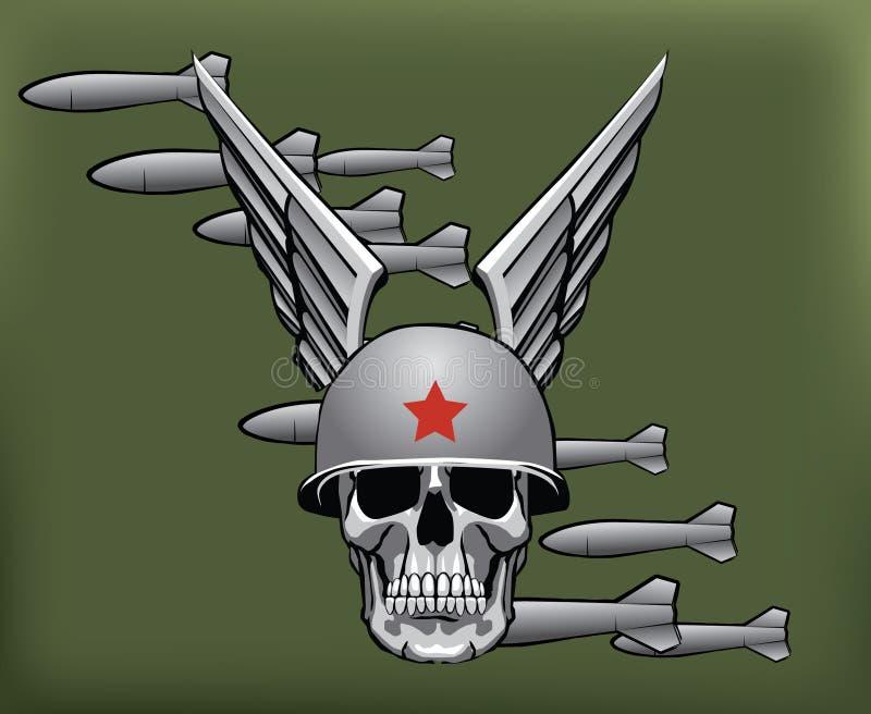 Bombe e cranio militari royalty illustrazione gratis