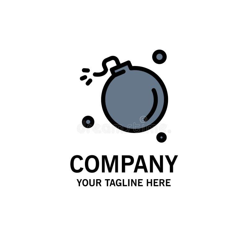 Bombe, Komet, Explosion, Meteor, Wissenschafts-Geschäft Logo Template flache Farbe vektor abbildung