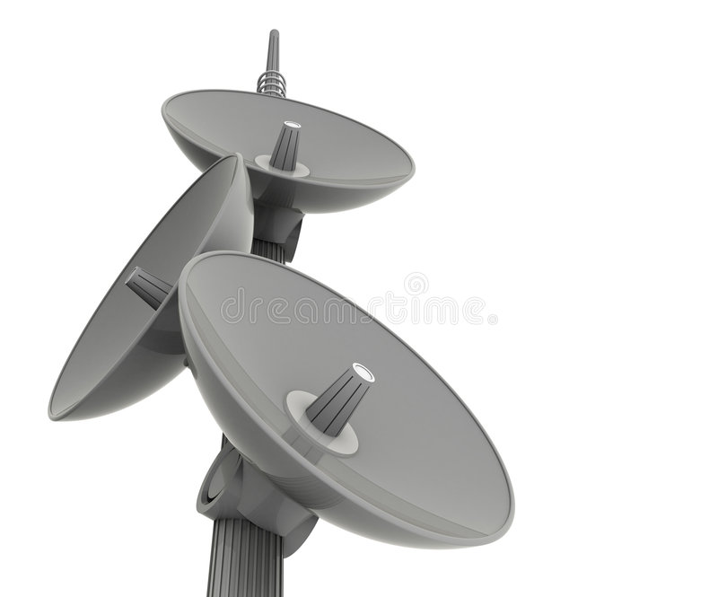 Bombe Le Satellite Image stock