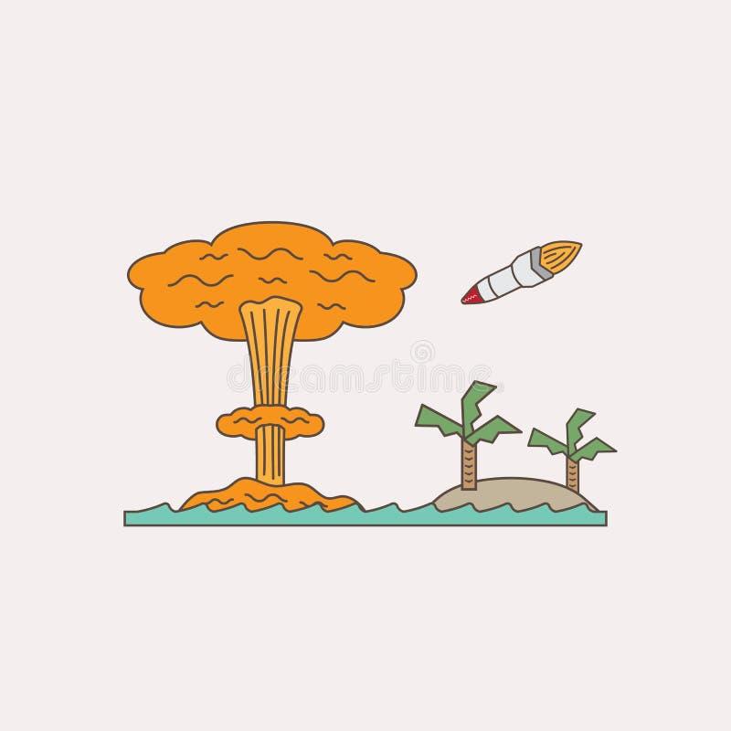 Bombe nucléaire illustration libre de droits