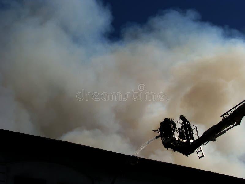 Bombeiros no snorkel imagens de stock