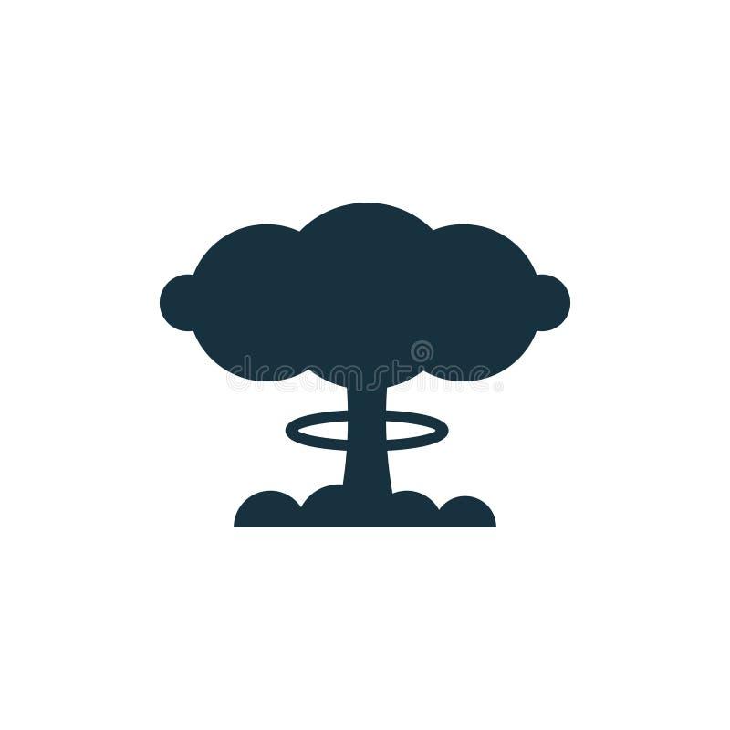 Bombenatom-Wolkenikone lizenzfreie abbildung