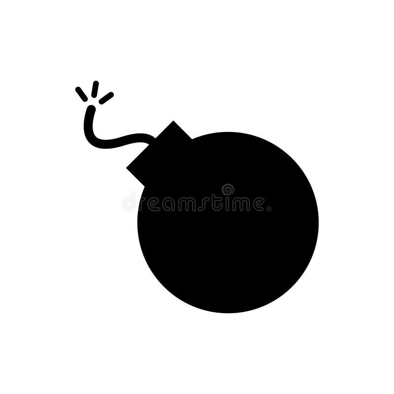 Bombenikone, Vektorillustration Flache Designart für Grafikdesign Logo, Website, Social Media, bewegliche APP, ui vektor abbildung