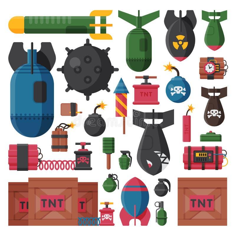 Bombenvektorillustration stock abbildung