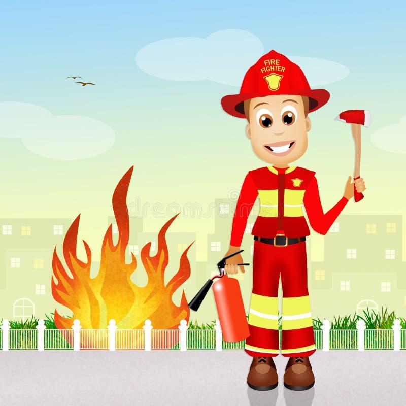bombero stock de ilustración