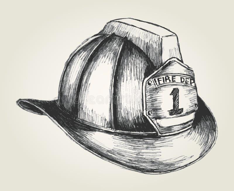 Bombero Helmet ilustración del vector