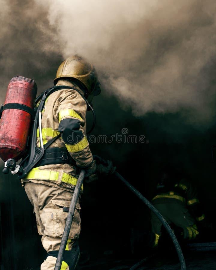 Bombero Hot Fire Training Dublín 2 fotografía de archivo libre de regalías