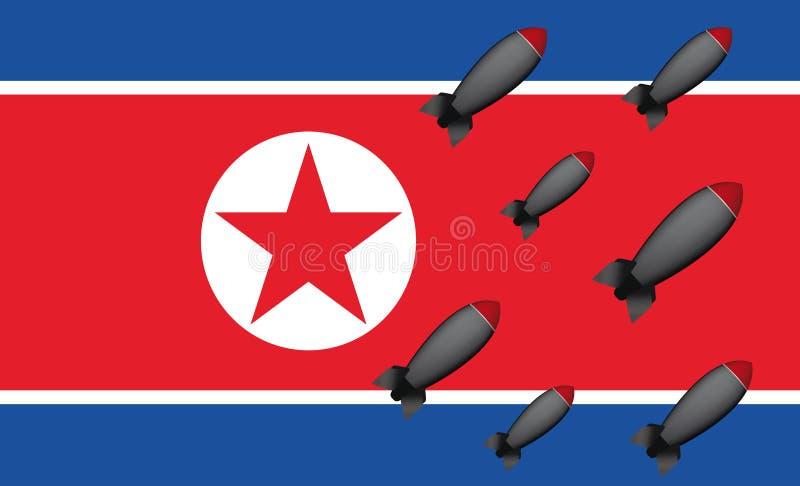 Bombes de la Corée du Nord illustration stock
