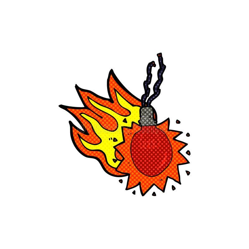 bombilla candente de la historieta cómica stock de ilustración
