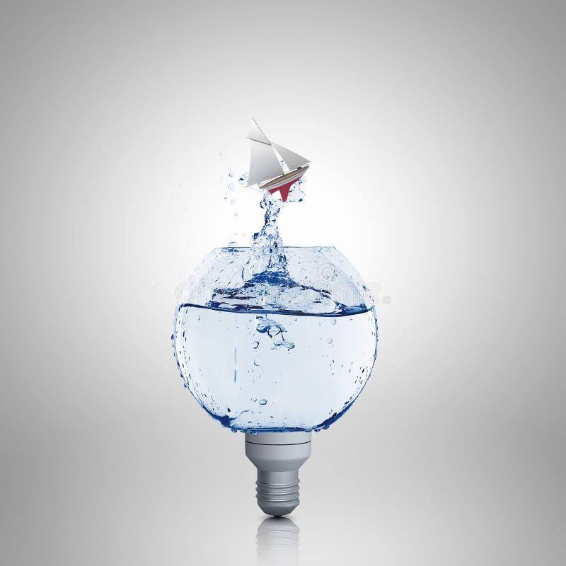 Bombilla con agua imagenes de archivo