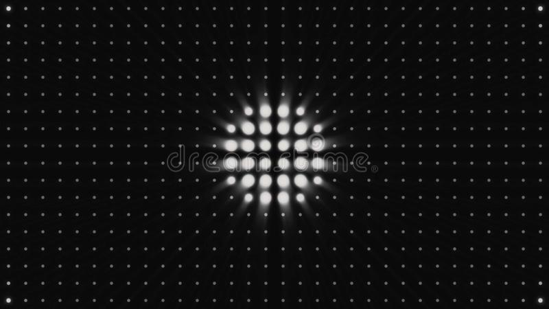 BOMBILLA de los CÍRCULOS, animación, representación, fondo, lazo Fondo circular del modelo de halo, contexto del disco, señalando ilustración del vector