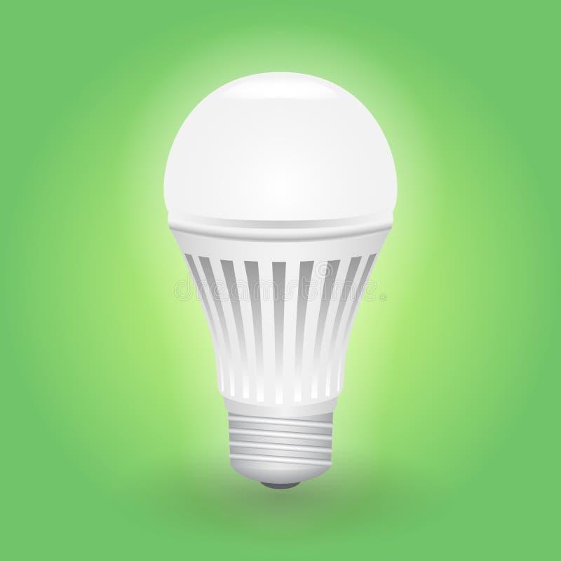 Bombilla económica del LED Excepto la lámpara de la energía ilustración del vector