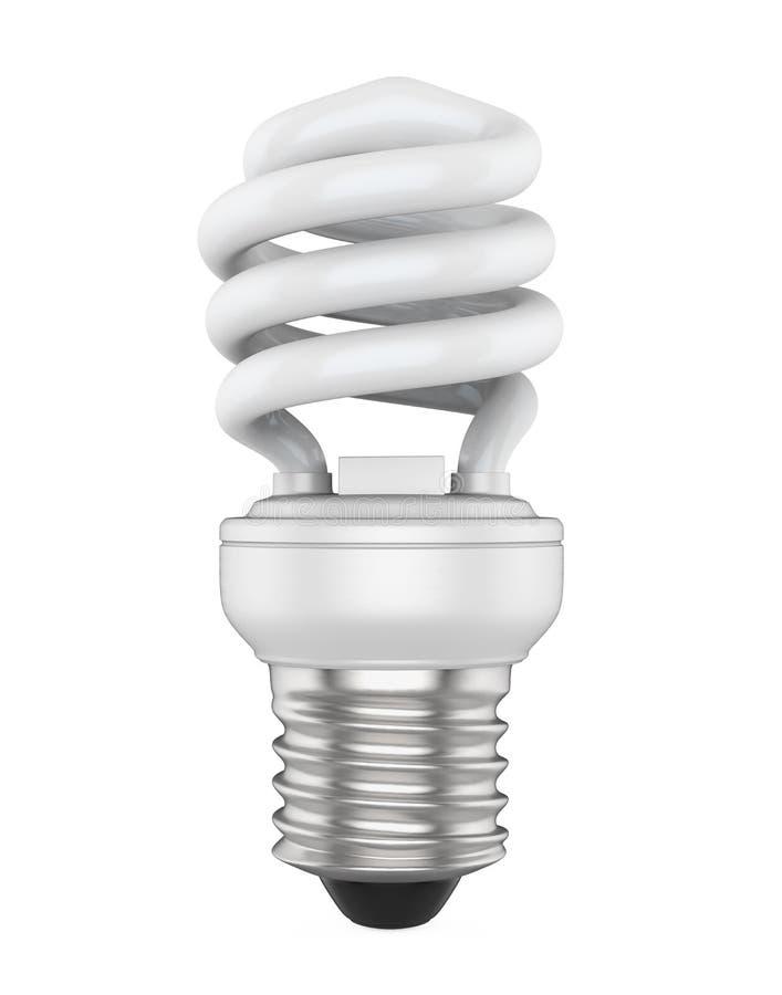 Bombilla fluorescente compacta ahorro de energía aislada stock de ilustración
