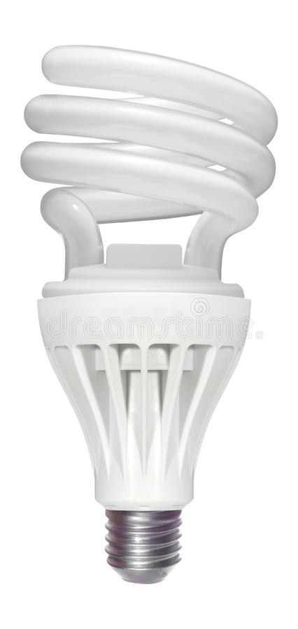 Bombilla fluorescente compacta eficiente stock de ilustración