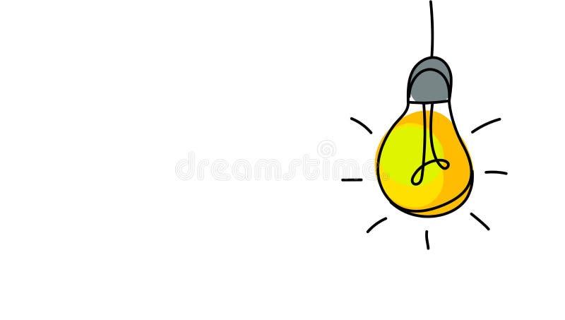 Bombilla, idea creativa ilustración del vector