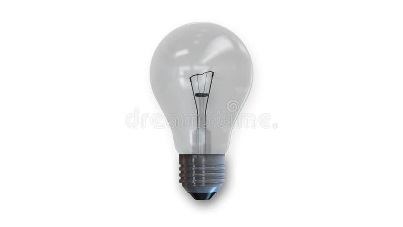 Bombilla, luz eléctrica aislada en blanco imagen de archivo
