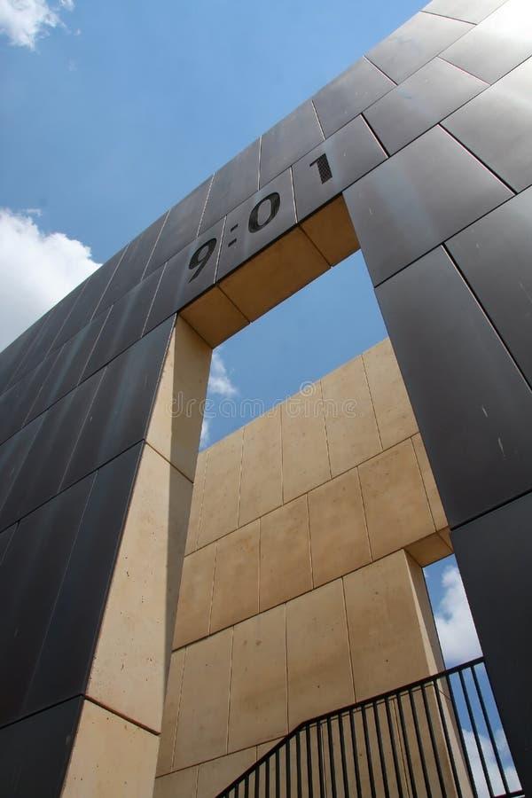 Bombing memorial in Oklahoma stock photos