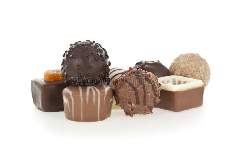 Bombons do chocolate do gourmet imagem de stock