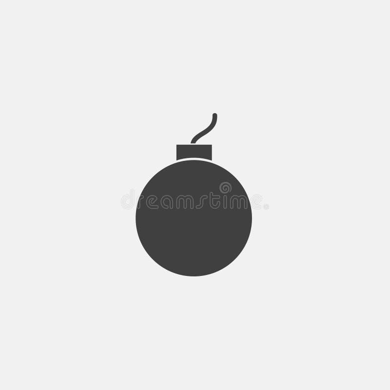Bombowa ikona ilustracja wektor