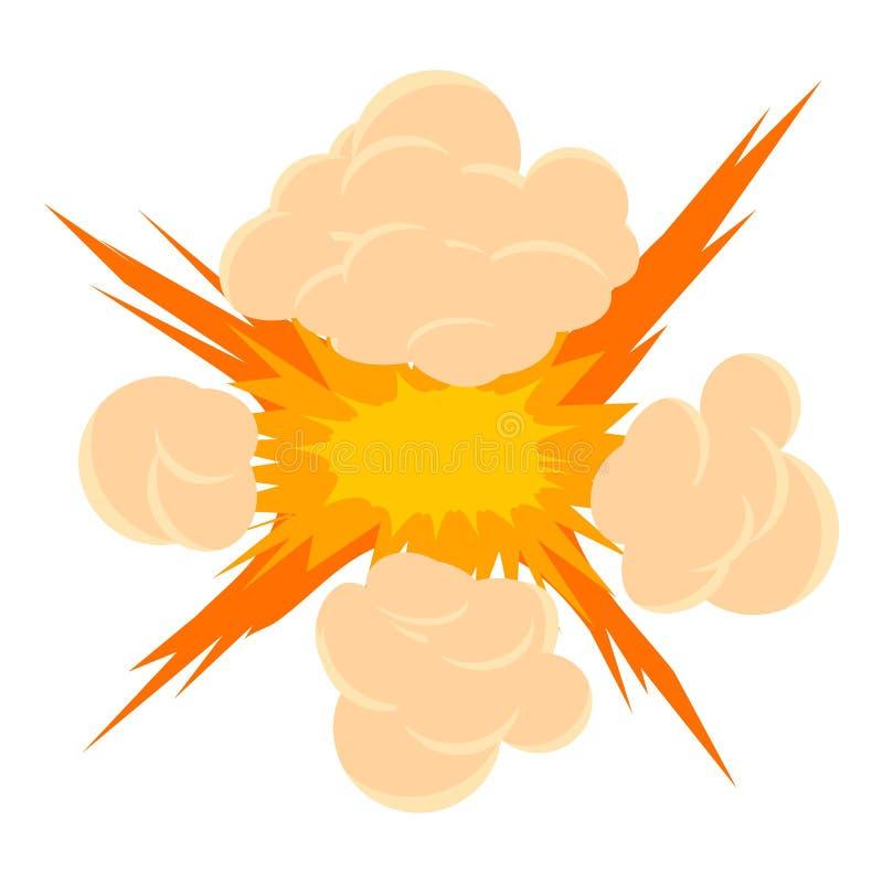 Bombowa wybuch ikona, kreskówka styl royalty ilustracja