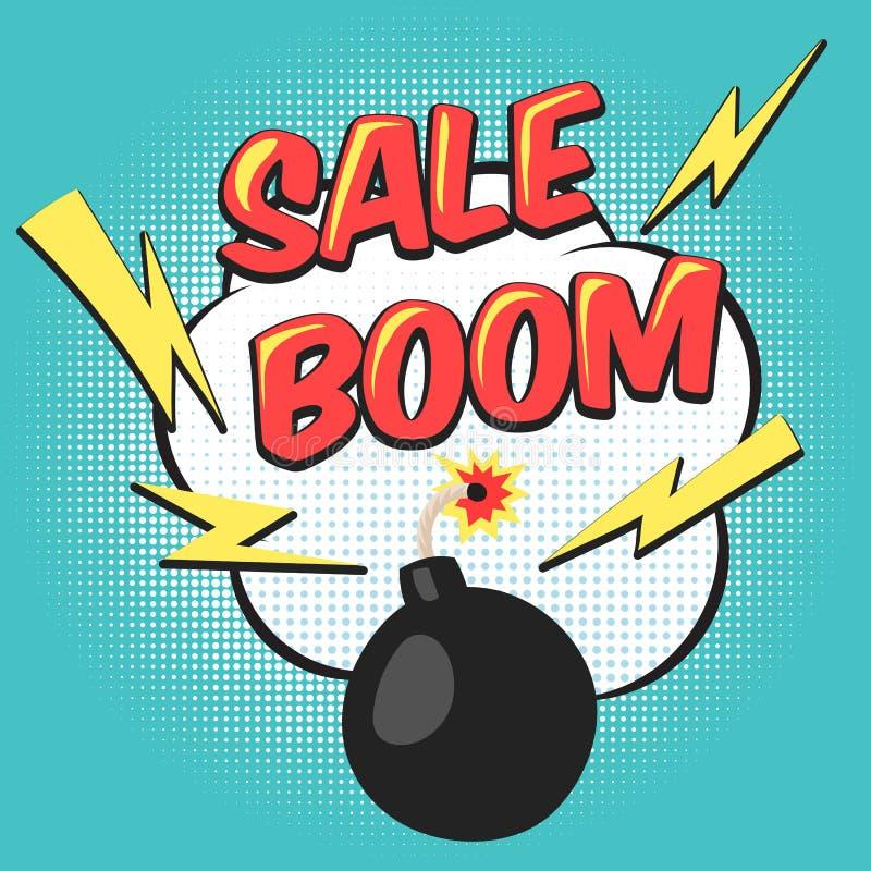 Bombowa wystrzał sztuki mega sprzedaż ilustracji