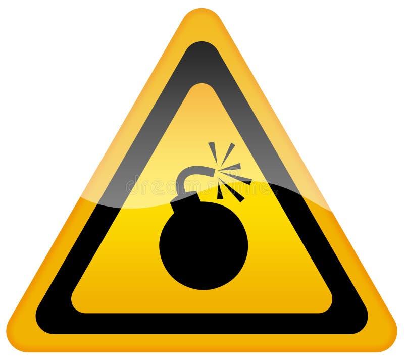 bombowy szyldowy ostrzeżenie ilustracji